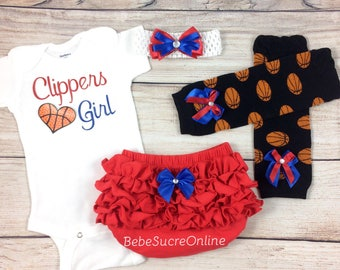 Clippers Girl, Baby Basketball Outfit, Cheerleader Game Day Outfit
