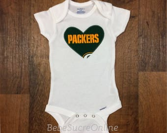Green Bay Packers Girls Bodysuit or Toddler Shirt