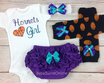 Hornets Girl, Baby Basketball Outfit, Cheerleader Game Day Outfit
