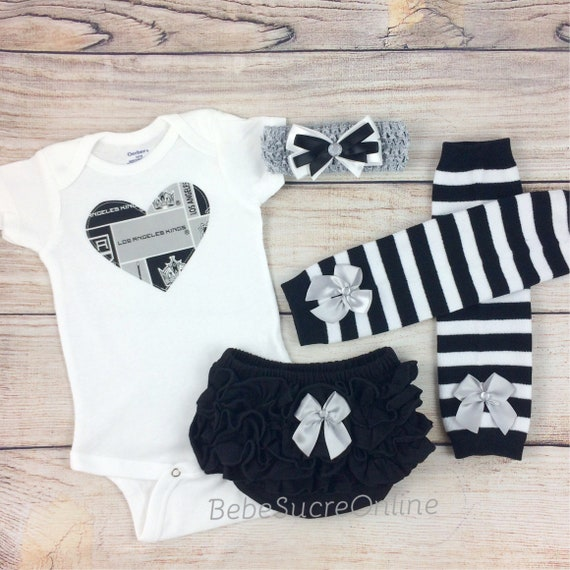 Los Angeles Kings Game Day Outfit LA Kings Baby Girl Clothes  20a627a9cfff