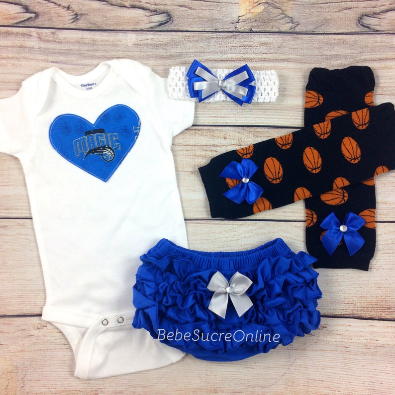 5783dd0a8 Orlando Magic Baby Girl Game Day Outfit Basketball