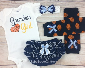Grizzlies Girl, Baby Basketball Outfit, Cheerleader Game Day Outfit