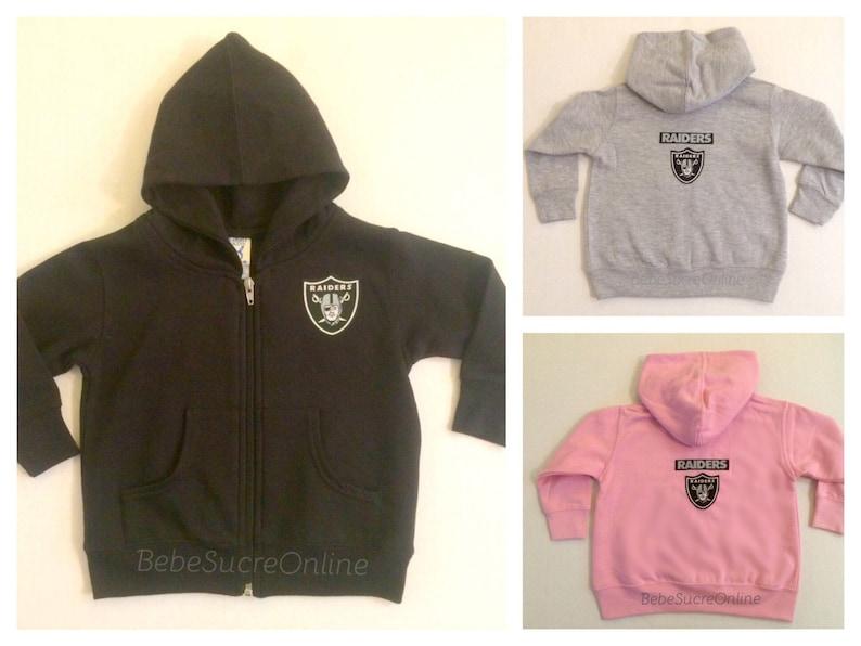 half off fc35f 164c7 Oakland Raiders Zip Up Fleece Hoodie - Baby and Toddler Sizes