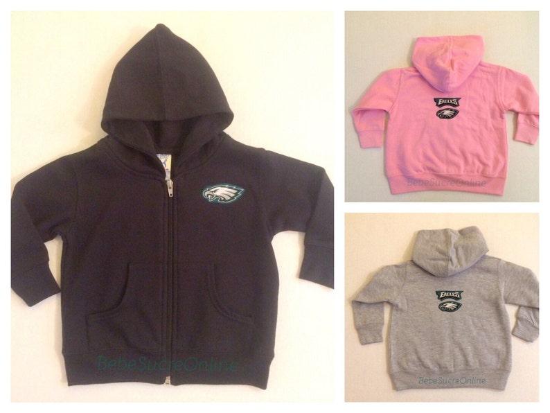 half off eb6c7 0d98f Philadelphia Eagles Zip Up Fleece Hoodie - Baby and Toddler Sizes