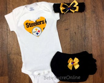 Steelers Outfit and Headband