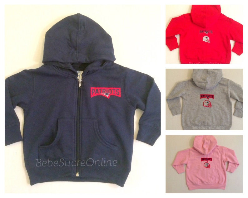 New England Patriots Zip Up Fleece Hoodie Baby and Toddler  1f8ba8f73