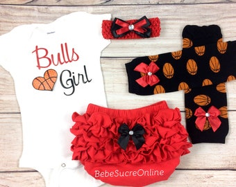 Bulls Girl, Baby Basketball Outfit, Cheerleader Game Day Outfit