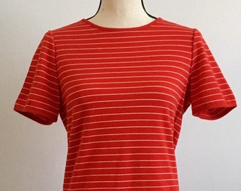 e2afbf4d5e7 Vintage 1980s Red White Striped Top Nautical Size Medium You and i