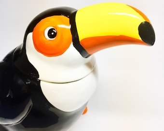 Vintage Toucan cookie Jar Hoan Guan Ceramic company