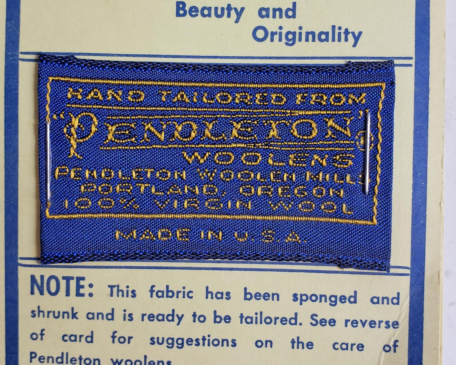 Vintage Pendleton Woolen Mills Clothing Sew On Label | Etsy