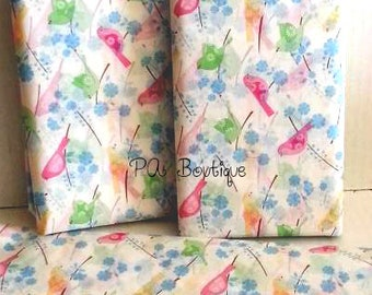"""Colorful Song Birds & Flowers Tissue Paper for Gift Bags 20""""x30"""" Sheets (Free Shipping!)"""