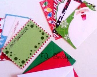 40ct. CHRISTMAS ASSORTMENT Set #2 Florist Blank Enclosure Cards & Envelopes (Free Shipping!)