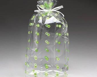 Free Shipping! Medium Retro Vivid Dots Polka Dots 4x2x9 Cello Party Treat Food Snack Bags