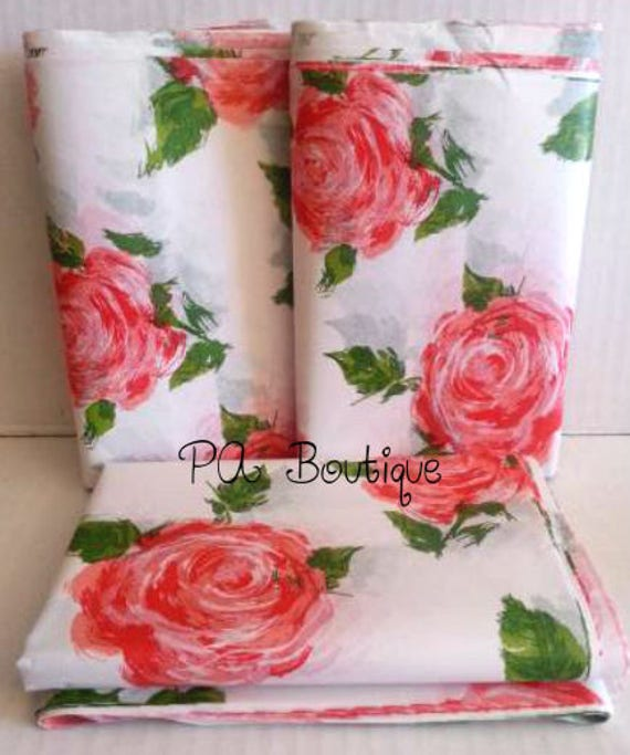 Beautiful Coral Cottage Rose Floral Tissue Paper Etsy