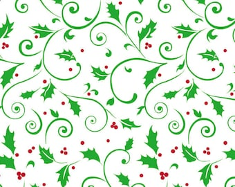 """Small Red & Green """"Holly Berries"""" 7x3x2"""" Cello Cellophane Party Treat Food Snack Bags (Free Shipping!)"""
