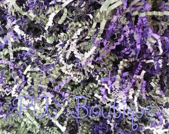 You Choose the Size: PURPLE CAMO Camouflage Gift Basket Shred, Crinkle Paper Filler Display Bedding (Free Shipping!)