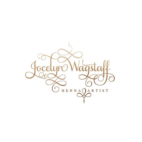 Premade Logo Predesigned Logo Photography Logo Watermark Henna Etsy
