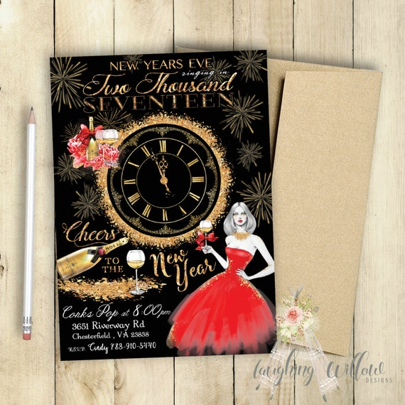 Cheers To the New Year Party Invitation