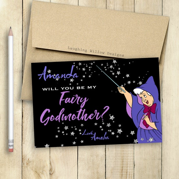 Godmother card fairy godmother card will you be my godmother etsy image 0 m4hsunfo