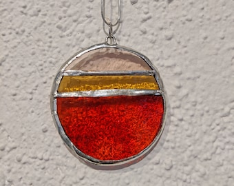 Abstract Sunset Geometric Necklace