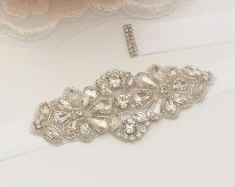 Girl Crystal Rhinestone Bridal Sash/ Embellish Sash / Wedding Sash/Crystal Bridesmaids sash