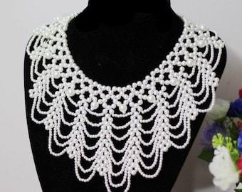 Handmade Detachable Princess Lady pearl collar Necklace