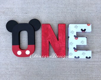 Mickey Mouse Inspired One Letters