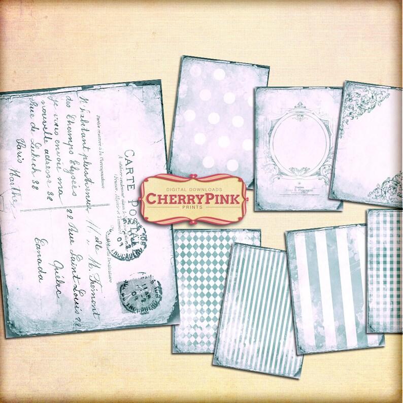 blue scrapbook designs VINTAGE BLUE BACKGROUND  digital collage sheet supplies digital download