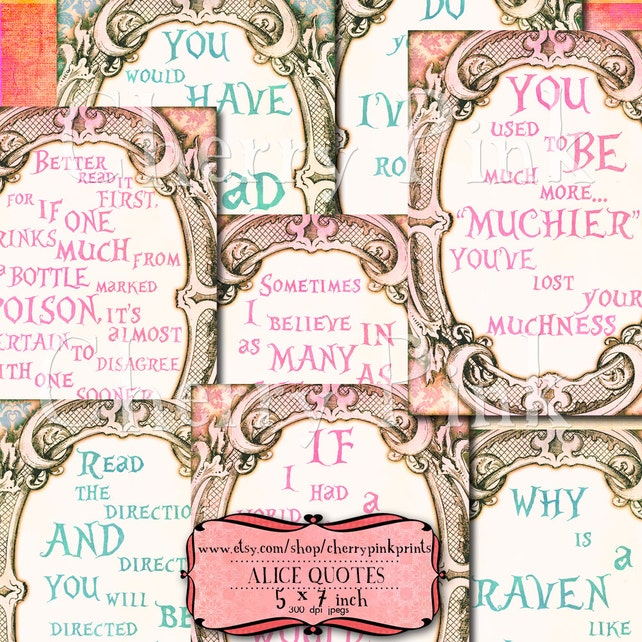 Alice In Wonderland Decoration Quotes Great Table Signs Alice