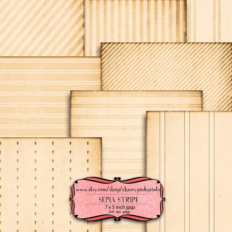 tags card making VINTAGE STRIPE digital paper collage sheet x  5 x 7 inch jpg digital download great for scrapbooking