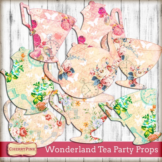 Alice In Wonderland Decoration Prop 8 Tea Party Prop Large Etsy