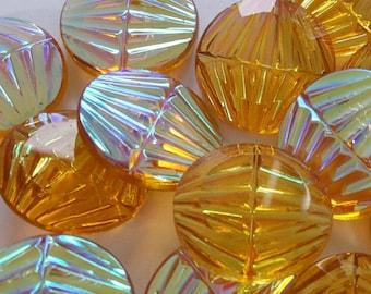 2 glass jewels, Ø18mm, topaz AB, round