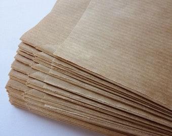100 paper bags, brown, 9,5x14,8cm