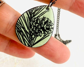 Crab lichen pendant