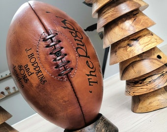 Leather rugby ball 1924 Limited Edition - vintage and old style (vegetable tan)