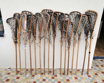 Old La crosse stick of cross (lacrosse) vintage