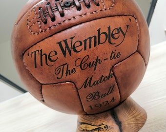 Handmade vintage Leather football ball - old soccer ball WEMBLEY limited edition (ORGANIC - Vegetable Tan)