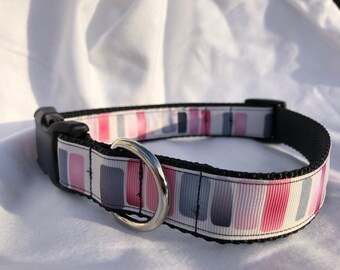 Pink and purple large dog collar