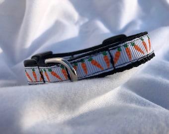 Carrots mini dog collar
