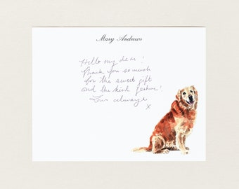 Personalized Stationery - Golden Retriever Dog - Stationery Suite - Blank Note Cards - Custom Gift - Cute Stationery Set - Dog Lover Gift