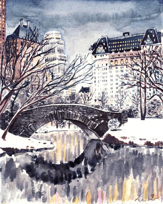 New York City Central Park Print Central Park Art New York Etsy