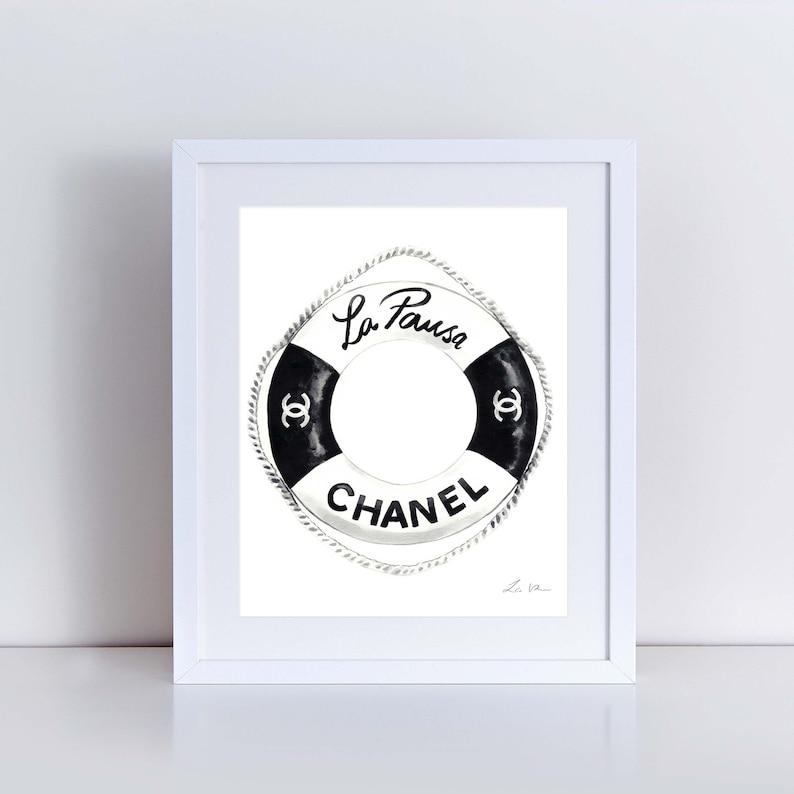 e4ac3b789b2f Chanel Cruise Life Saver Art Print Watercolor Painting Wall | Etsy