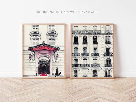 Paris Apartments Balcony Art Print Watercolor Painting Wall Etsy