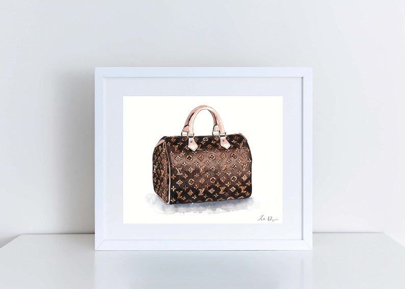 b7db3702eadb Louis Vuitton Monogram Speedy Vuitton Handbag Art Watercolor