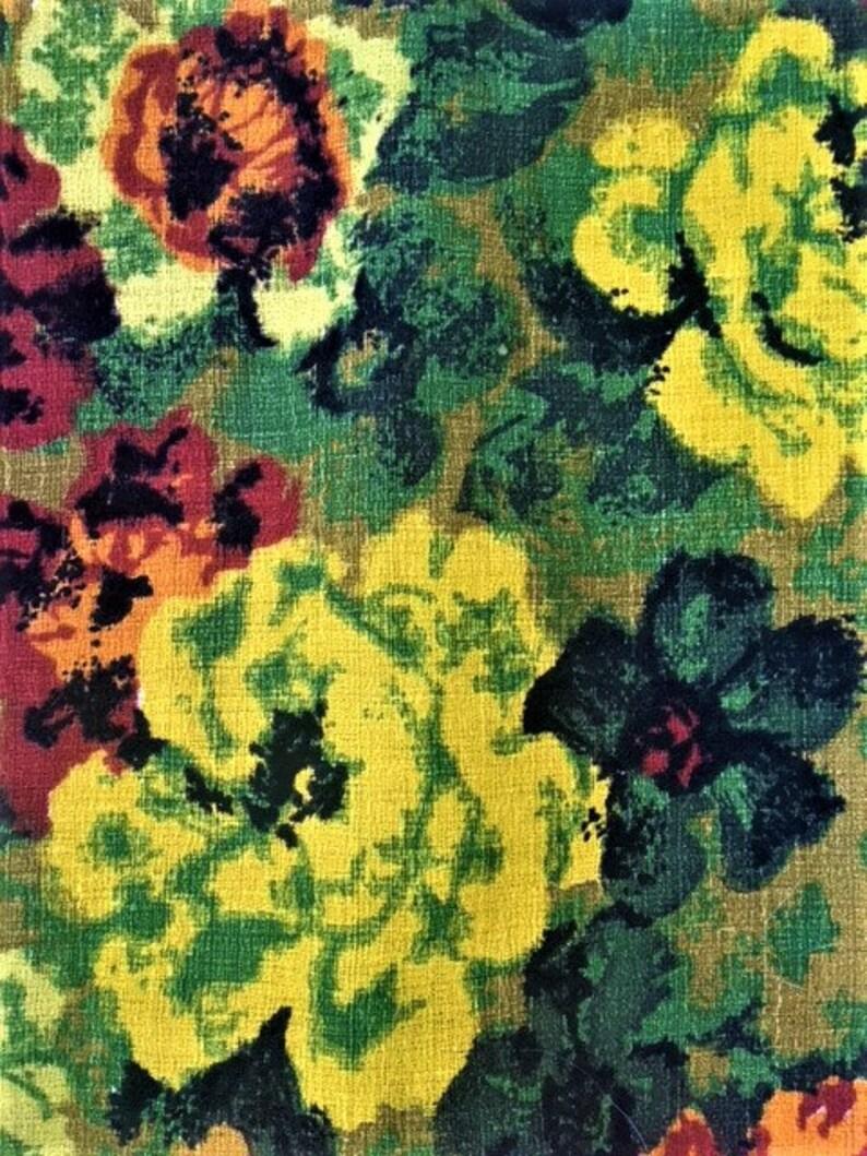 NOS MCM Barkcloth Fabric 43.5x92
