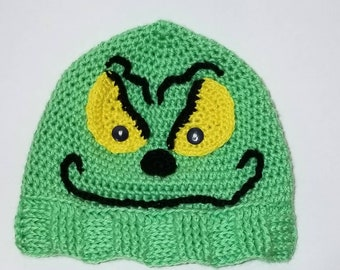 7218d7ebffa Hand Crocheted Hat Inspired by The Grinch