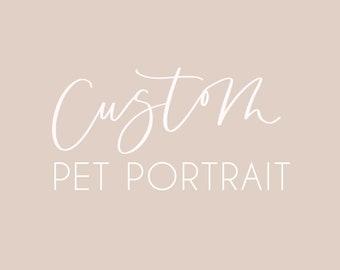 custom pet portrait | digital file | pet illustration