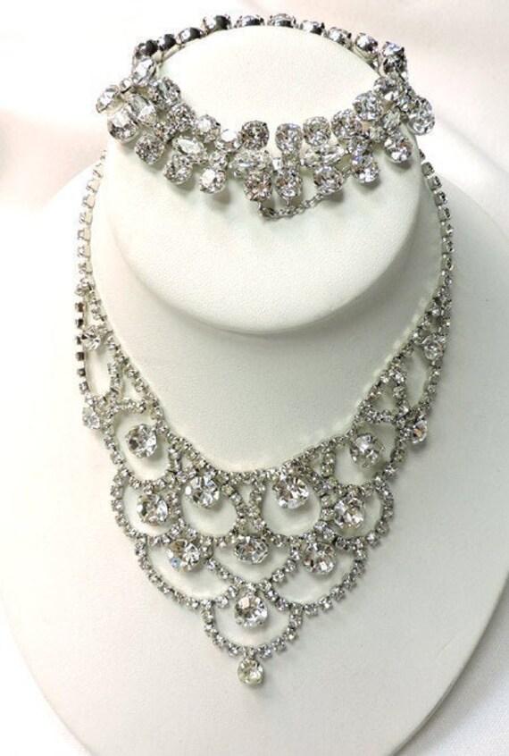 Vintage EISENBERG  Necklace/Bracelet...Signed EISE
