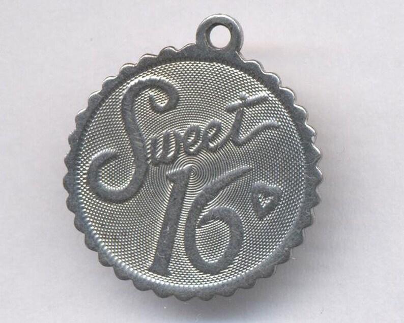 Vintage Birthday Charm....Sterling Silver Sweet 16 Birthday Charm