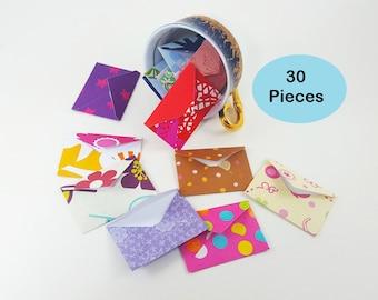 Mini Envelopes, Tiny Envelopes, Small Envelopes, Set of Tiny Envelopes, Tooth Fairy Envelopes, Elf Envelopes, Doll Envelopes, Micro Envelope